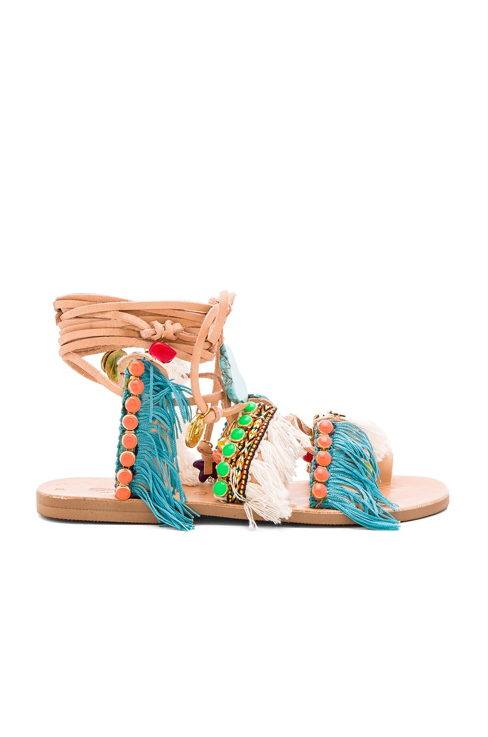 Elina Linardaki Mint Mojitos Sandal in Multi