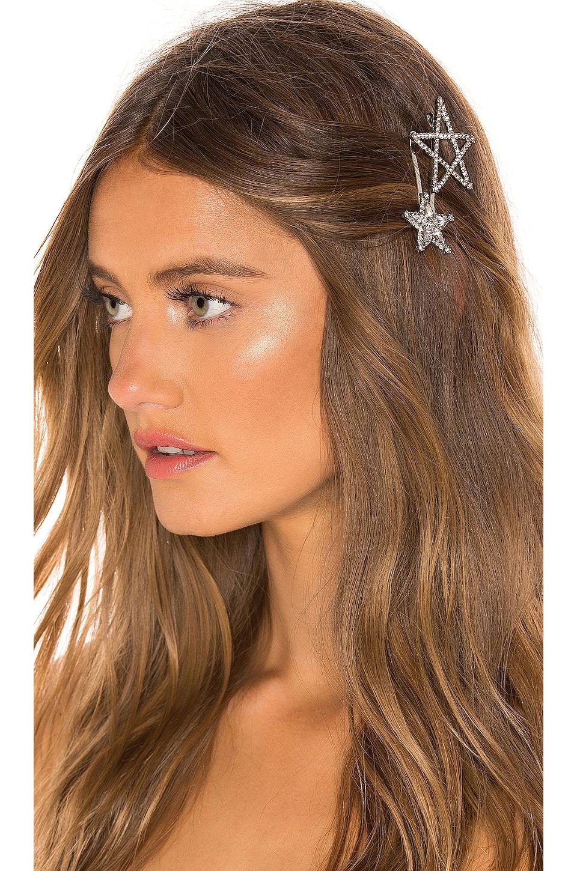 Elizabeth Cole Star Hair Pin Set in Silver