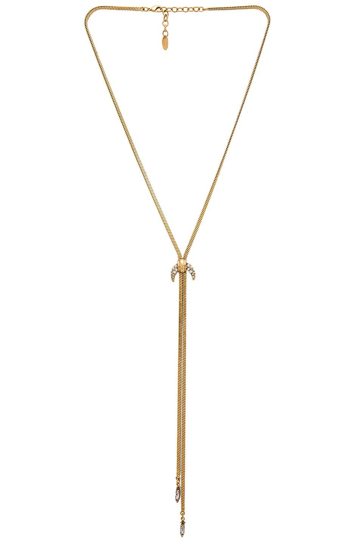 Elizabeth Cole Necklace in Golden Crystal