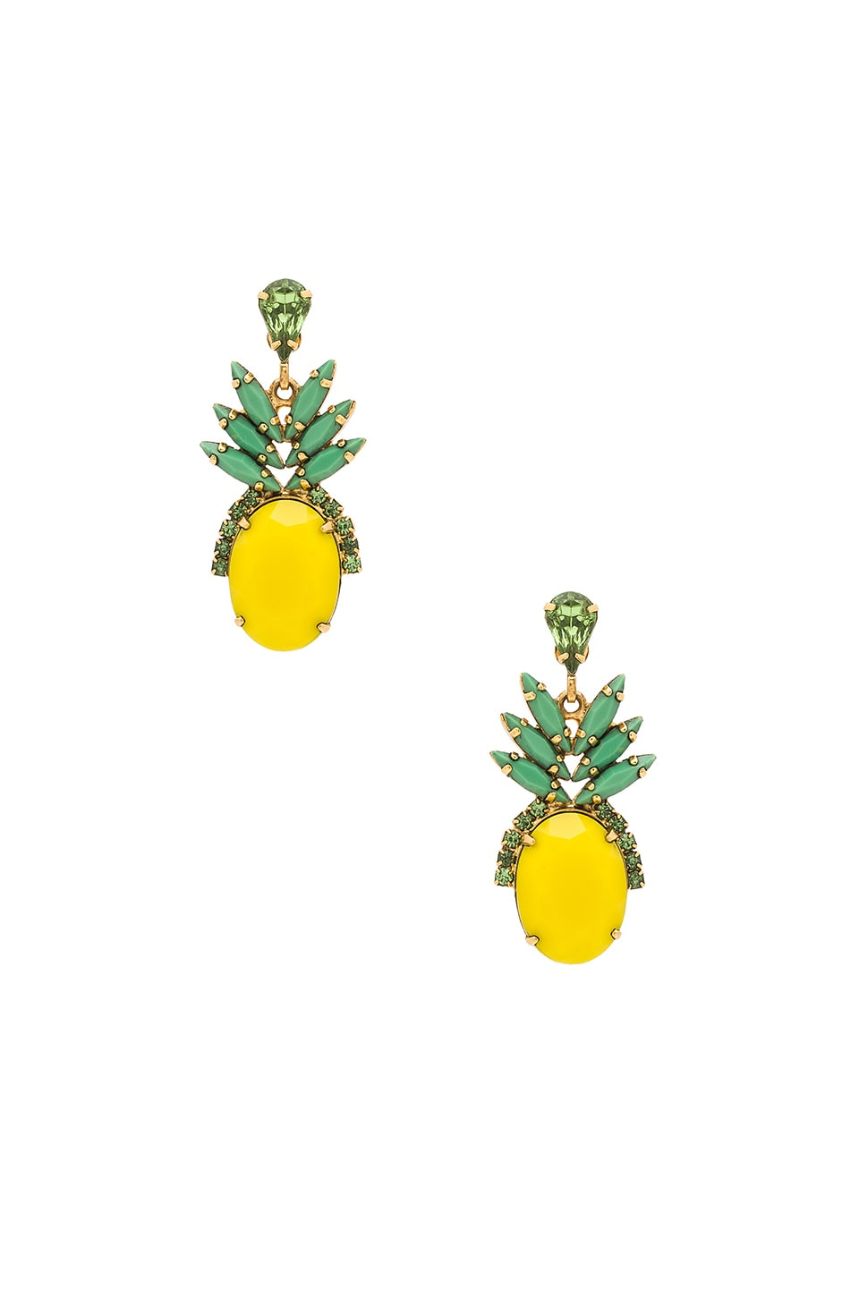 Elizabeth Cole Pineapple Studs in Tropical