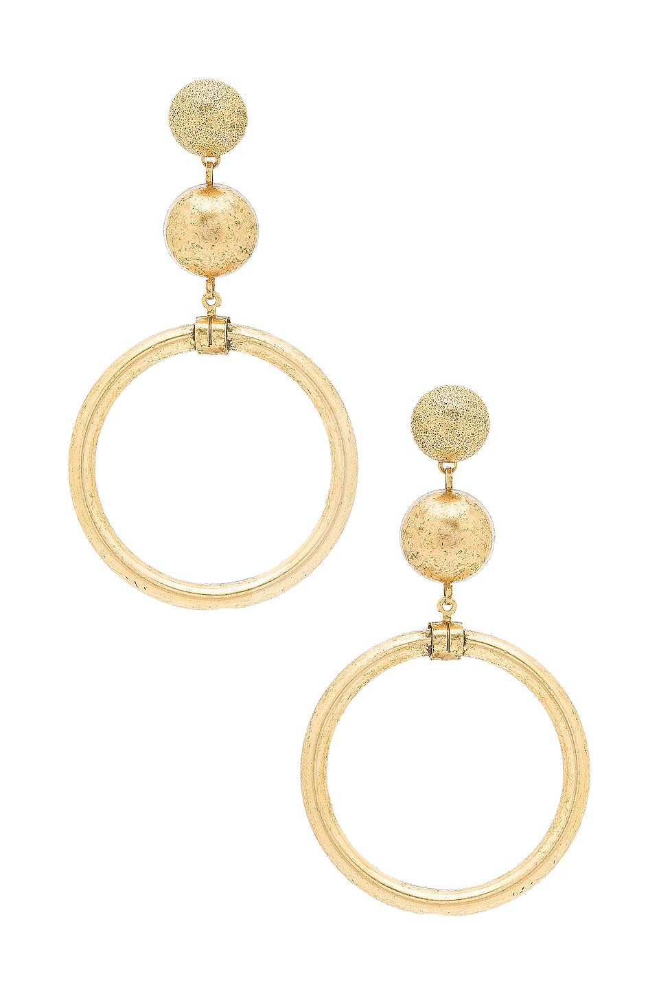 Elizabeth Cole Drop Earrings in Gold