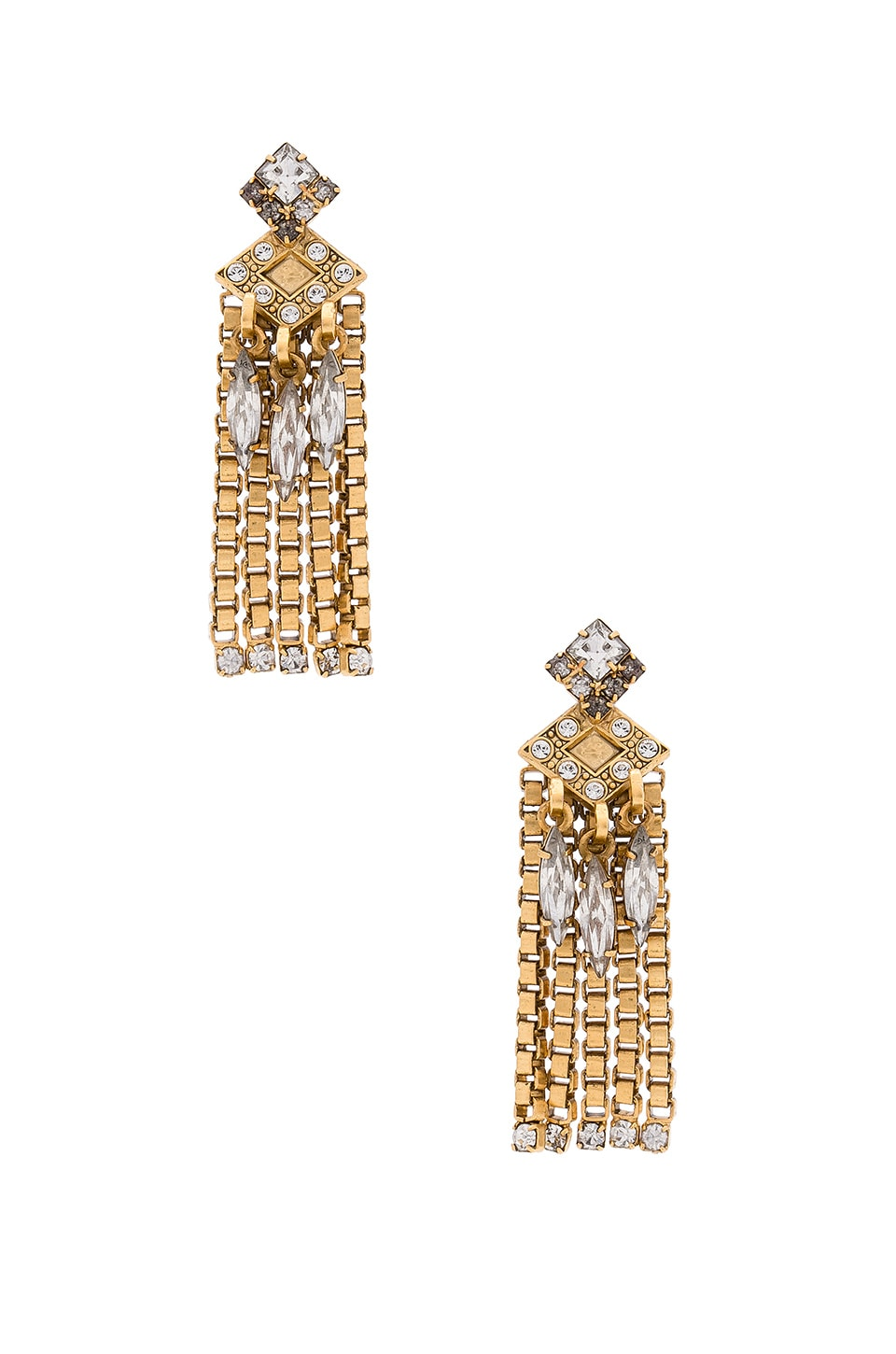 Elizabeth Cole Nala Earring in Golden Crystal