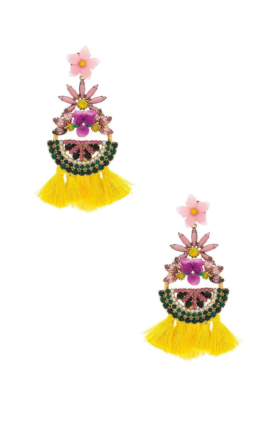 Elizabeth Cole Petite Watermelon Statement Earrings in Pink