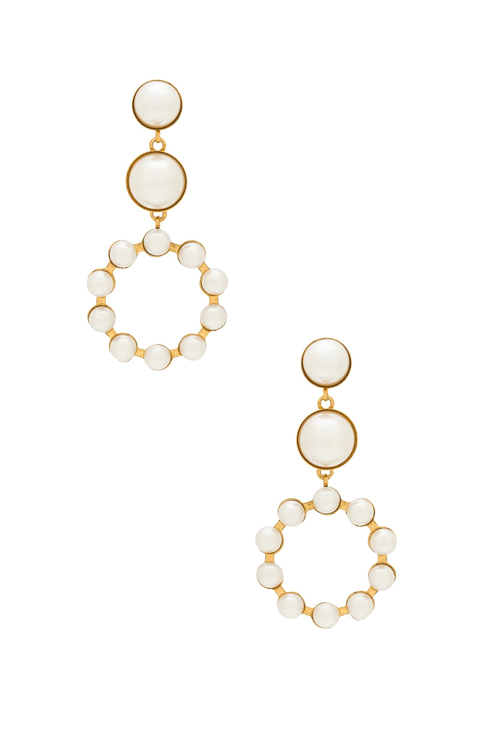 Elizabeth Cole Marge Earrings in Pearl