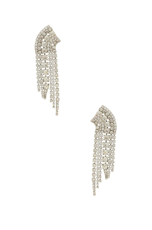 Elizabeth Cole x REVOLVE Crystal Waterfall Earring in Silver