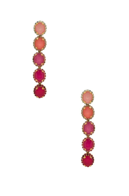 Elizabeth Cole Von Earring in Pale Pink
