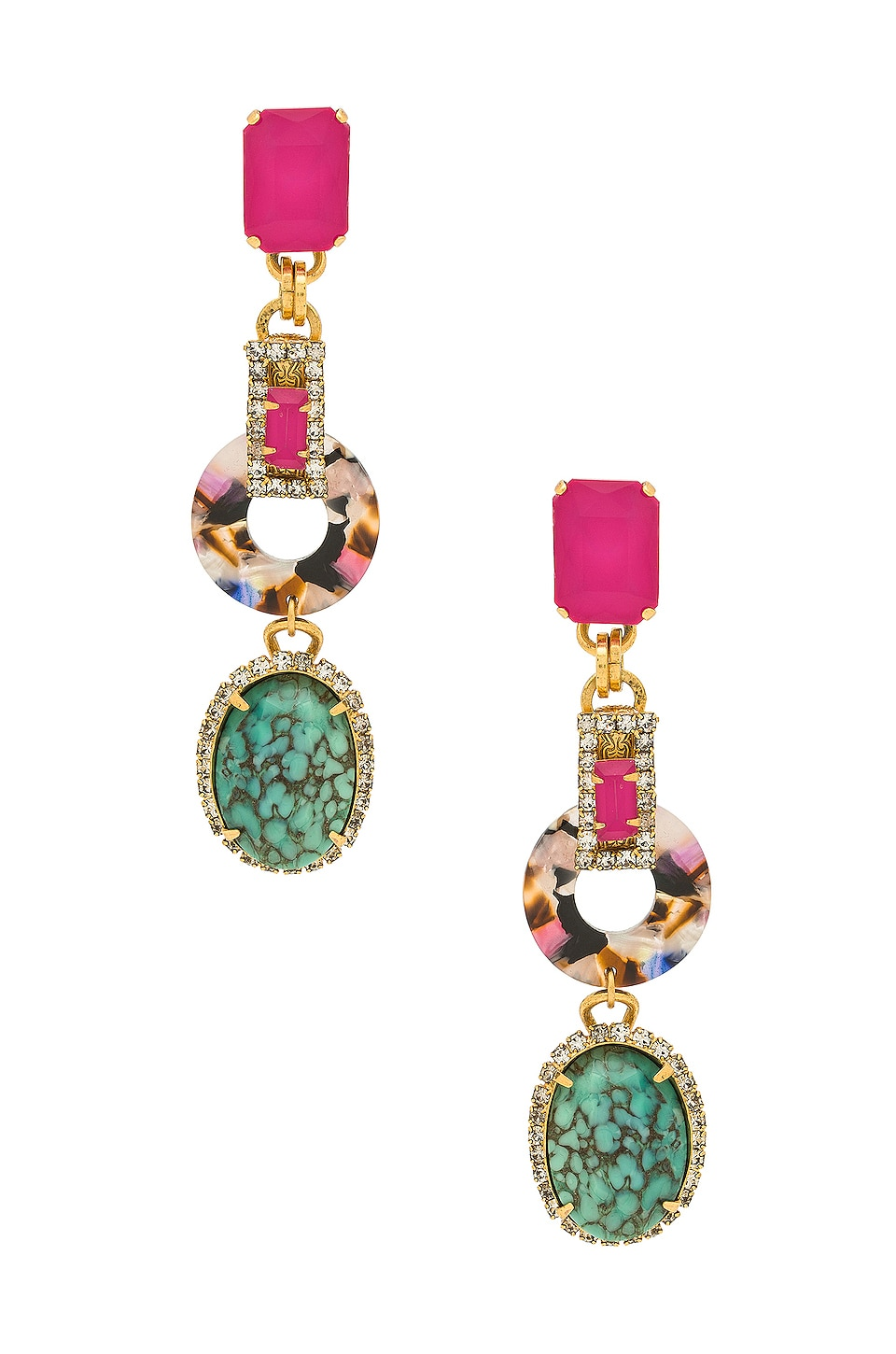 Elizabeth Cole Tamra Earrings in Multi