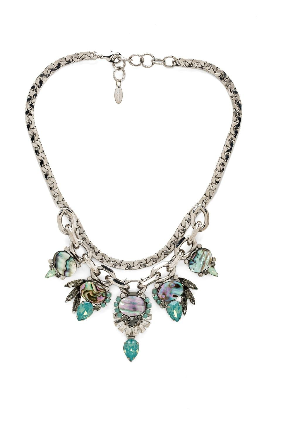 Elizabeth Cole Bib Necklace in Mother of Pearl
