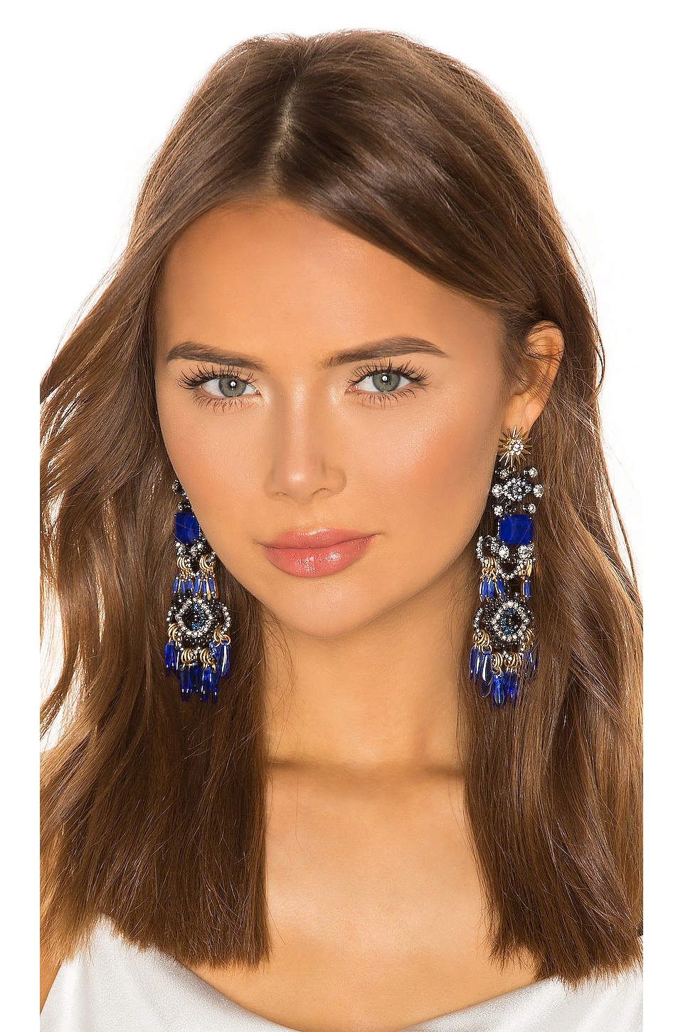 Elizabeth Cole Tutti Earrings in Blue