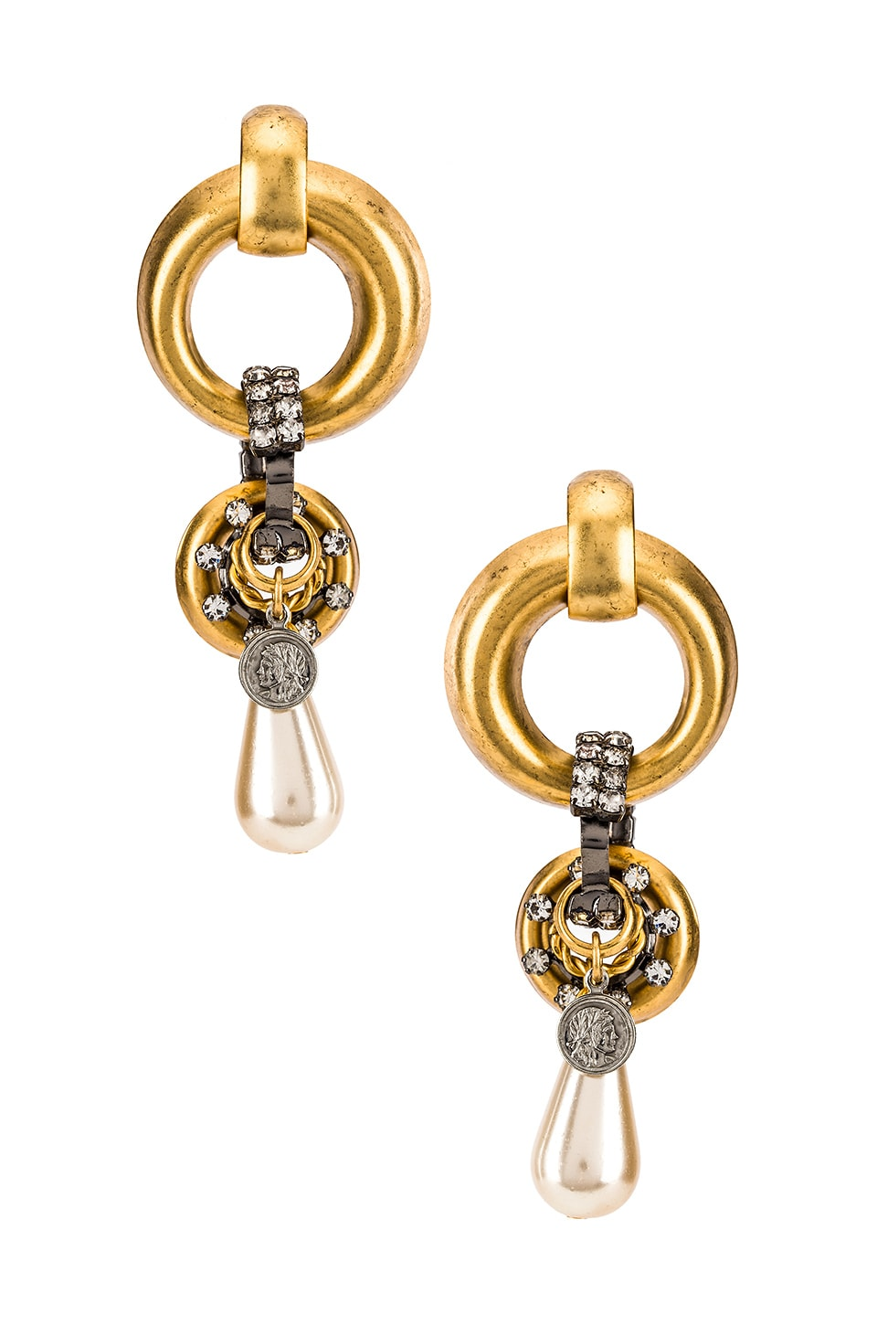 Elizabeth Cole Limone Earrings in Gold