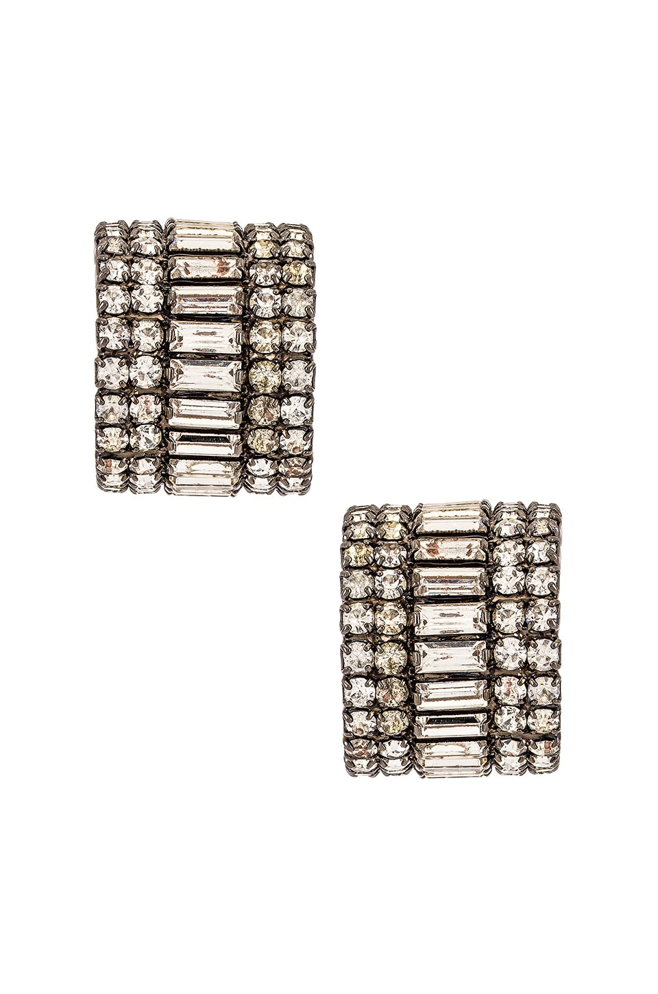 Elizabeth Cole Karen Earrings in Silver