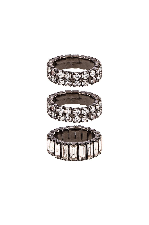 Elizabeth Cole Triple Stack Ring in Silver