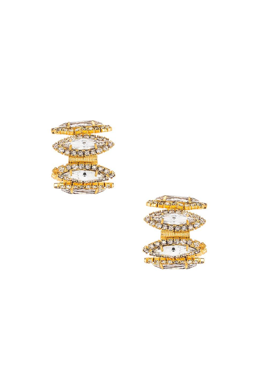 Elizabeth Cole Paulette Earrings in Crystal