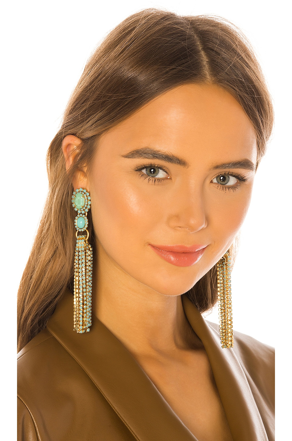 Elizabeth Cole Tina Earrings in Turquoise