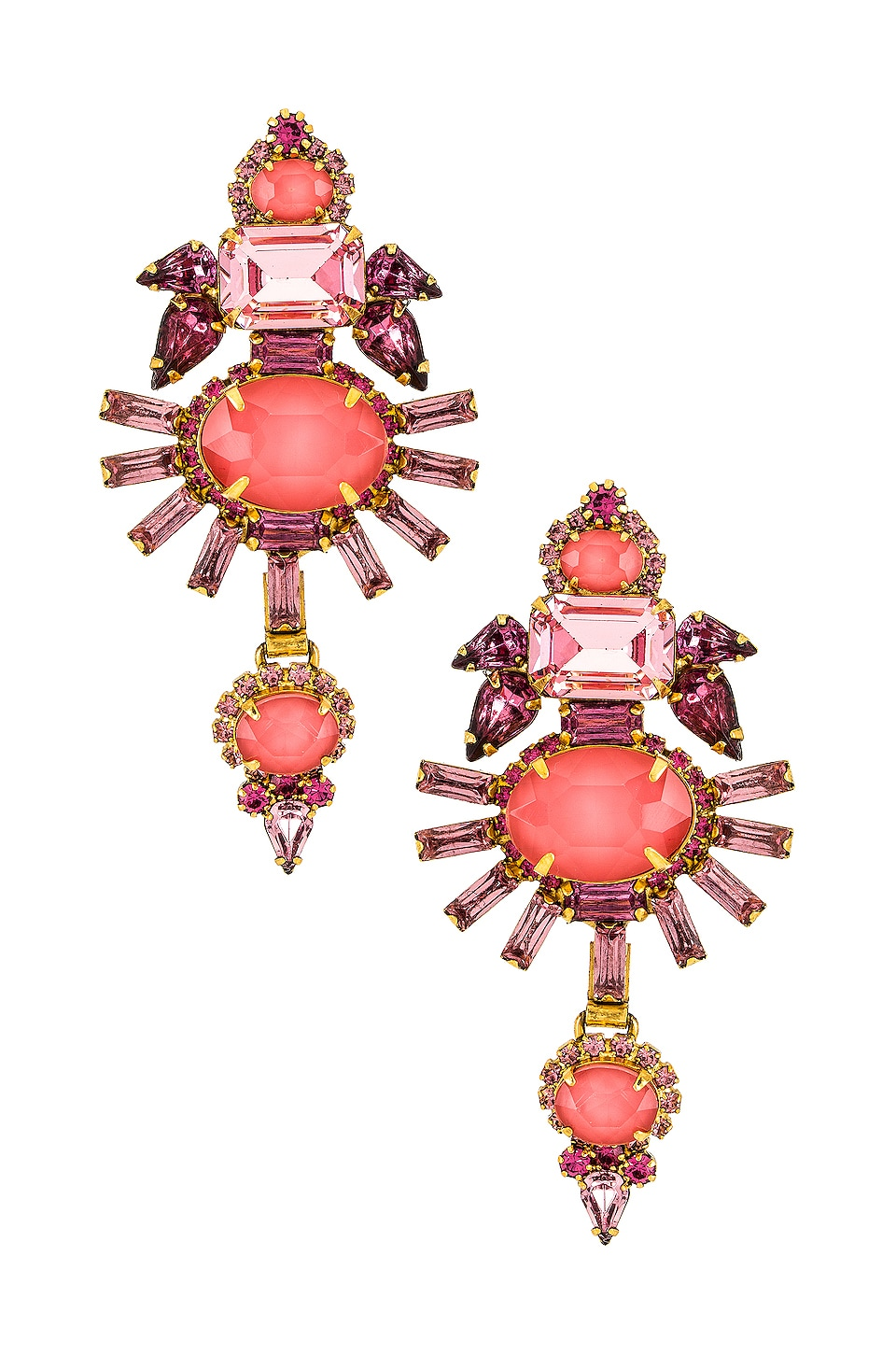Elizabeth Cole Henning Earrings in Pink