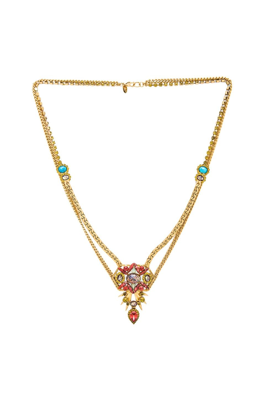Elizabeth Cole Sybil Necklace in Fire Opal