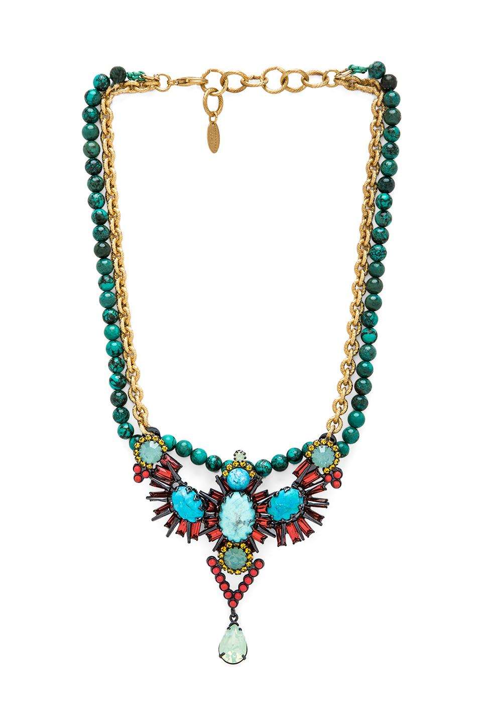 Elizabeth Cole Necklace in Turquoise