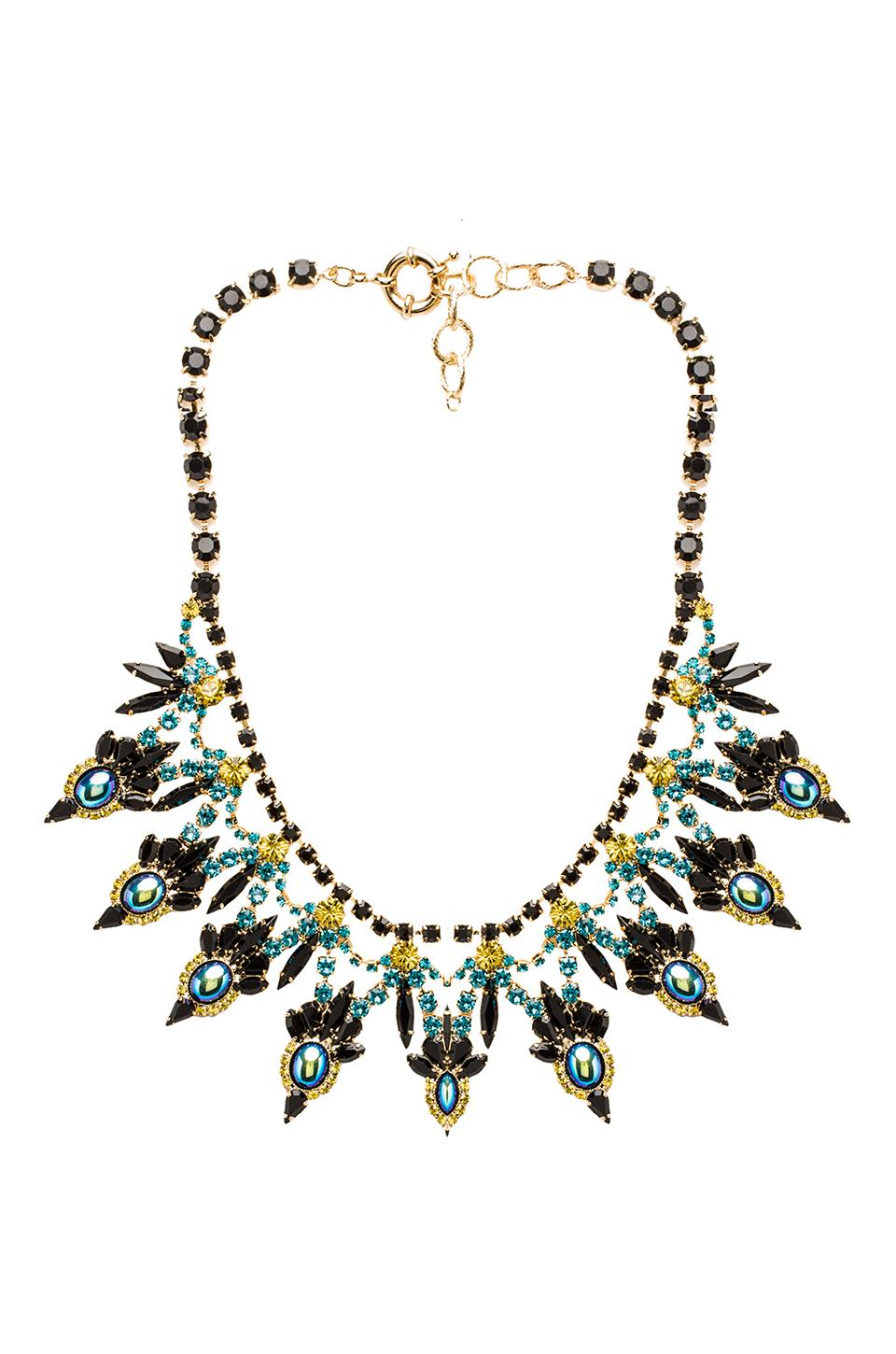 Elizabeth Cole Crystal Collar in Black Crystal