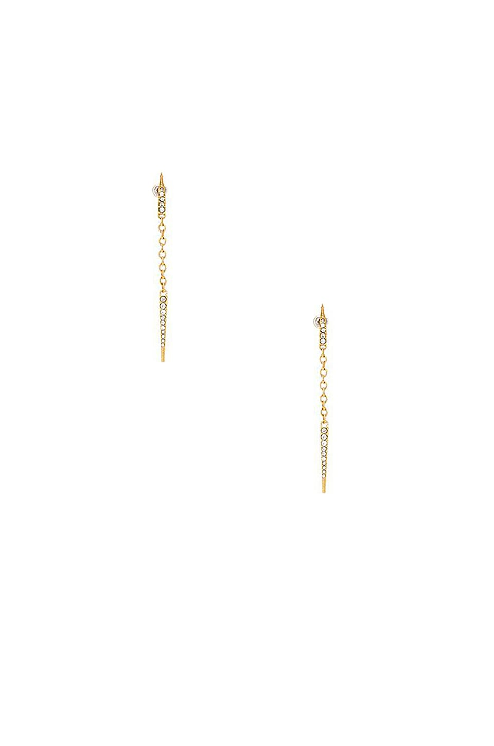 Elizabeth Cole Sloan Earrings in Gold
