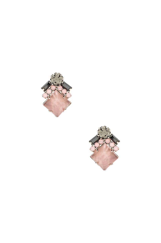 Elizabeth Cole Ryder Stud Earring in Rose Quartz