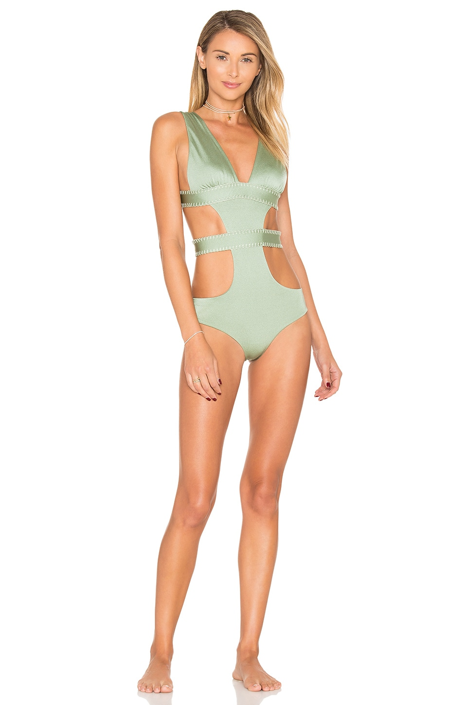 ELLEJAY Amores One Piece in Sea Foam