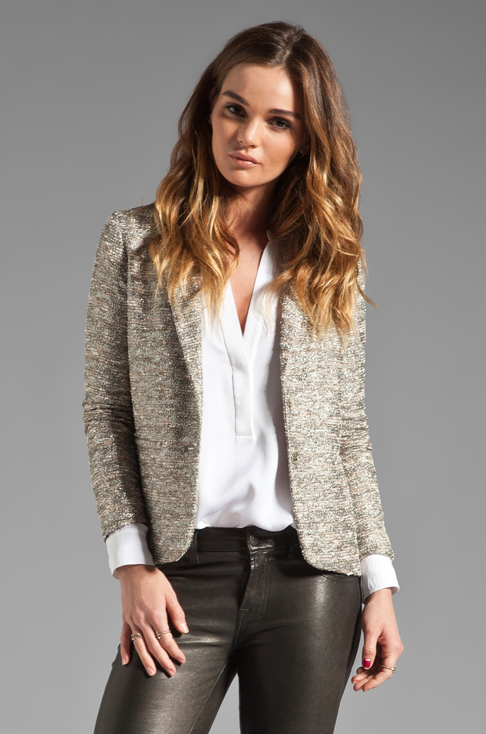 ELKIN Stellar Tweed Lady Blazer in Galactic