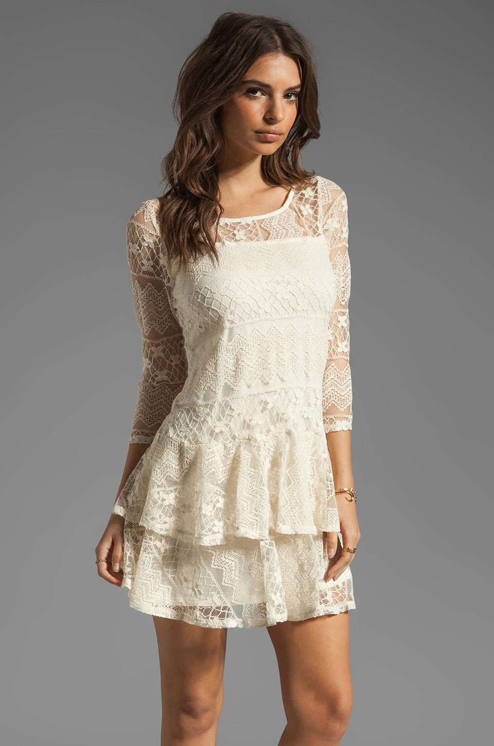 Ella Moss Kayte Lace Dress in Linen