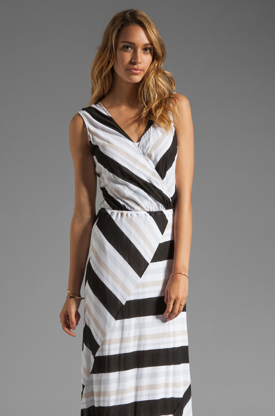 Ella Moss Zadie Stripe Dress in Black