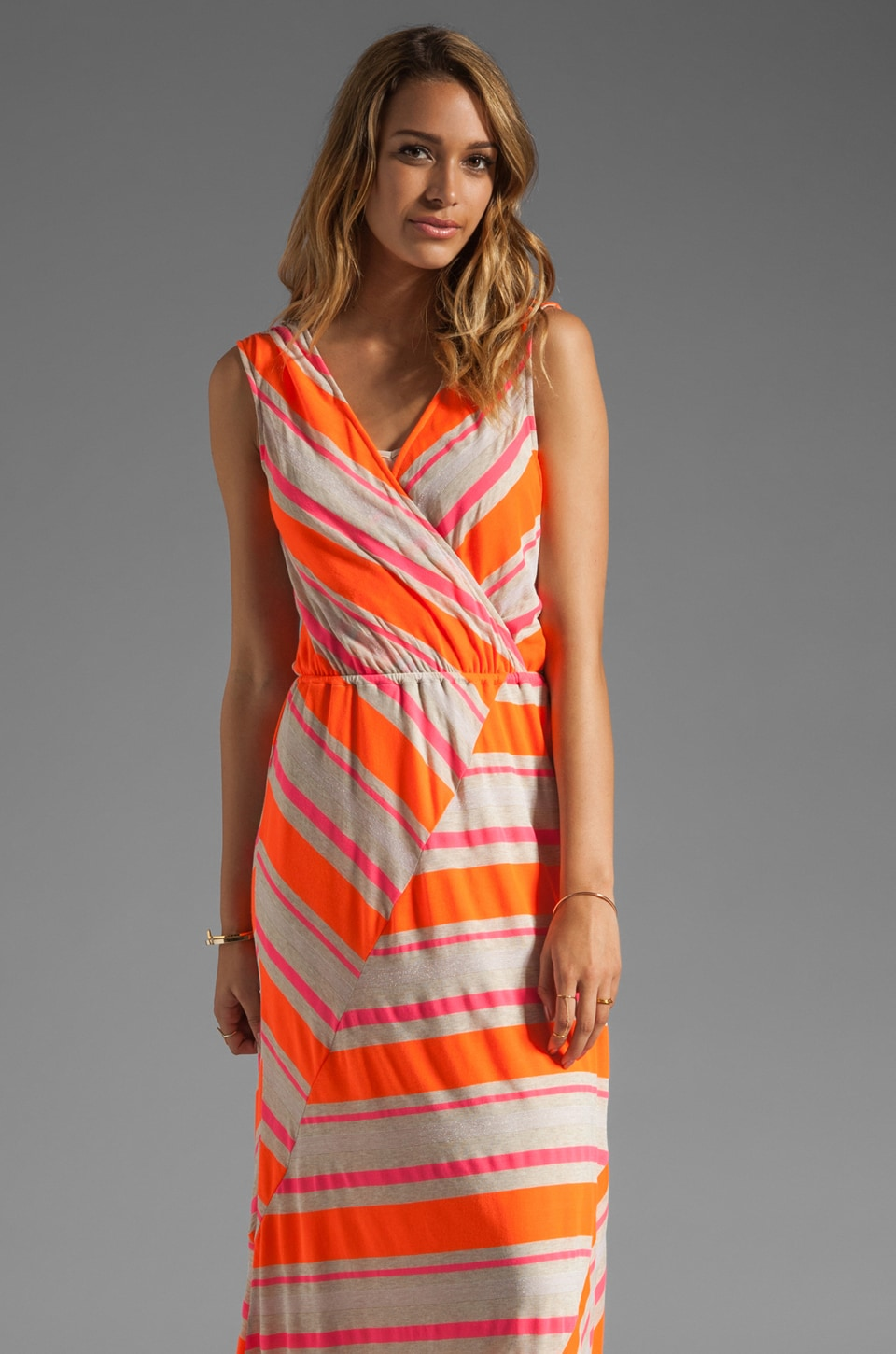 Ella Moss Zadie Stripe Dress in Fire