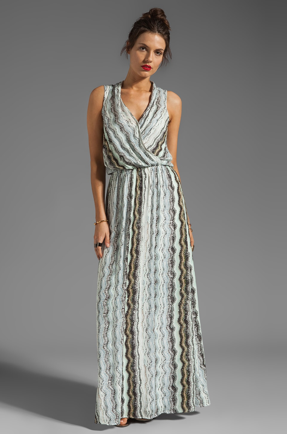 Ella Moss Zuma Print Maxi Dress in Neutral