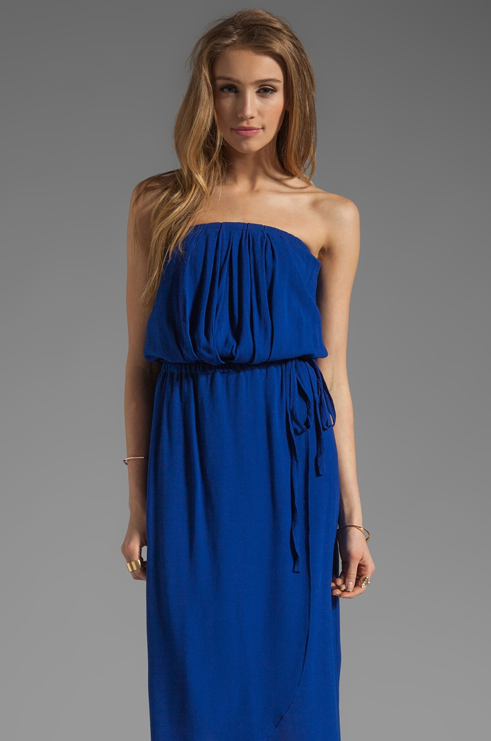 Ella Moss Stella Strapless Maxi in Royal