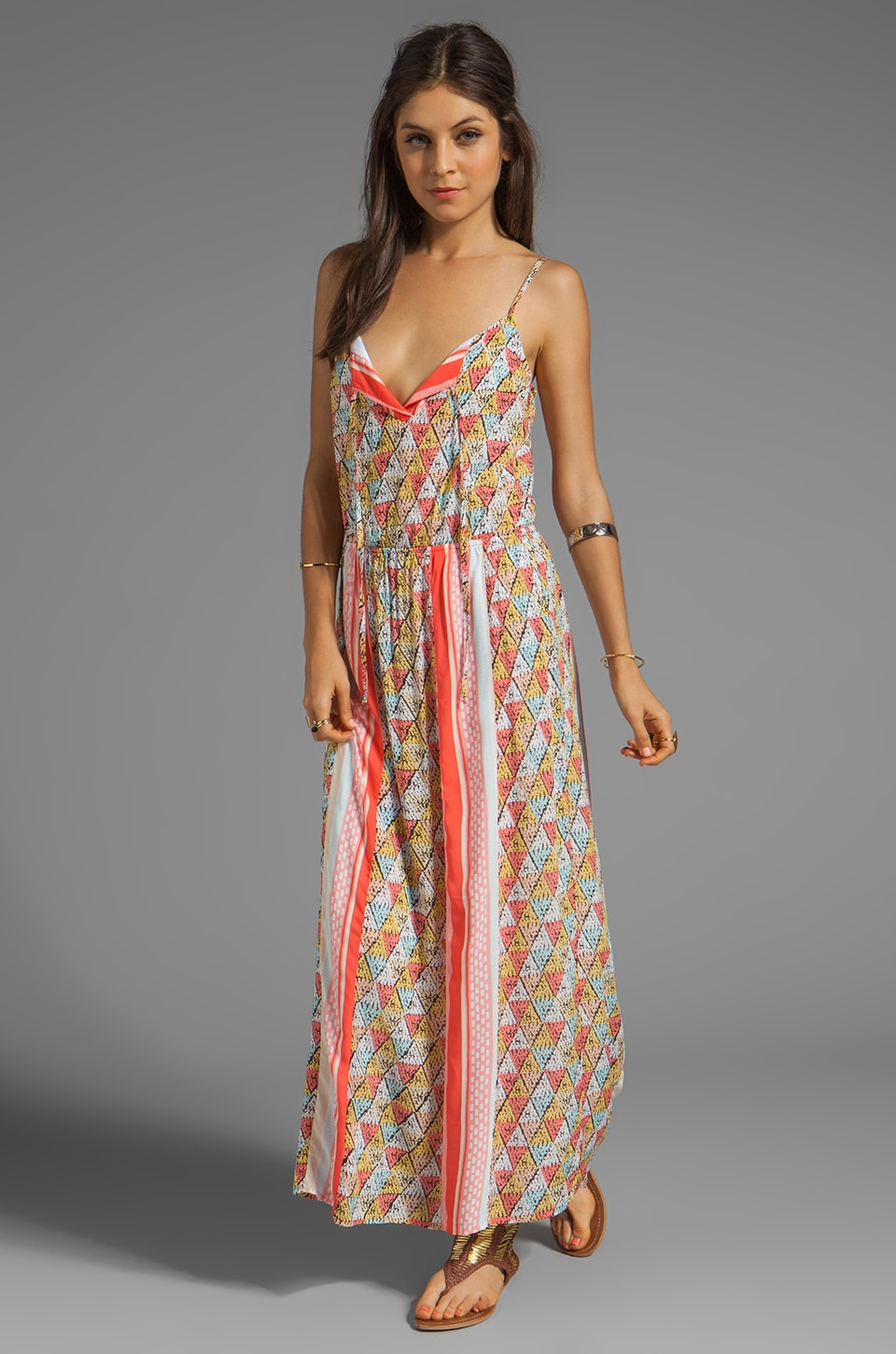Ella Moss Tiki Maxi Dress in Coral