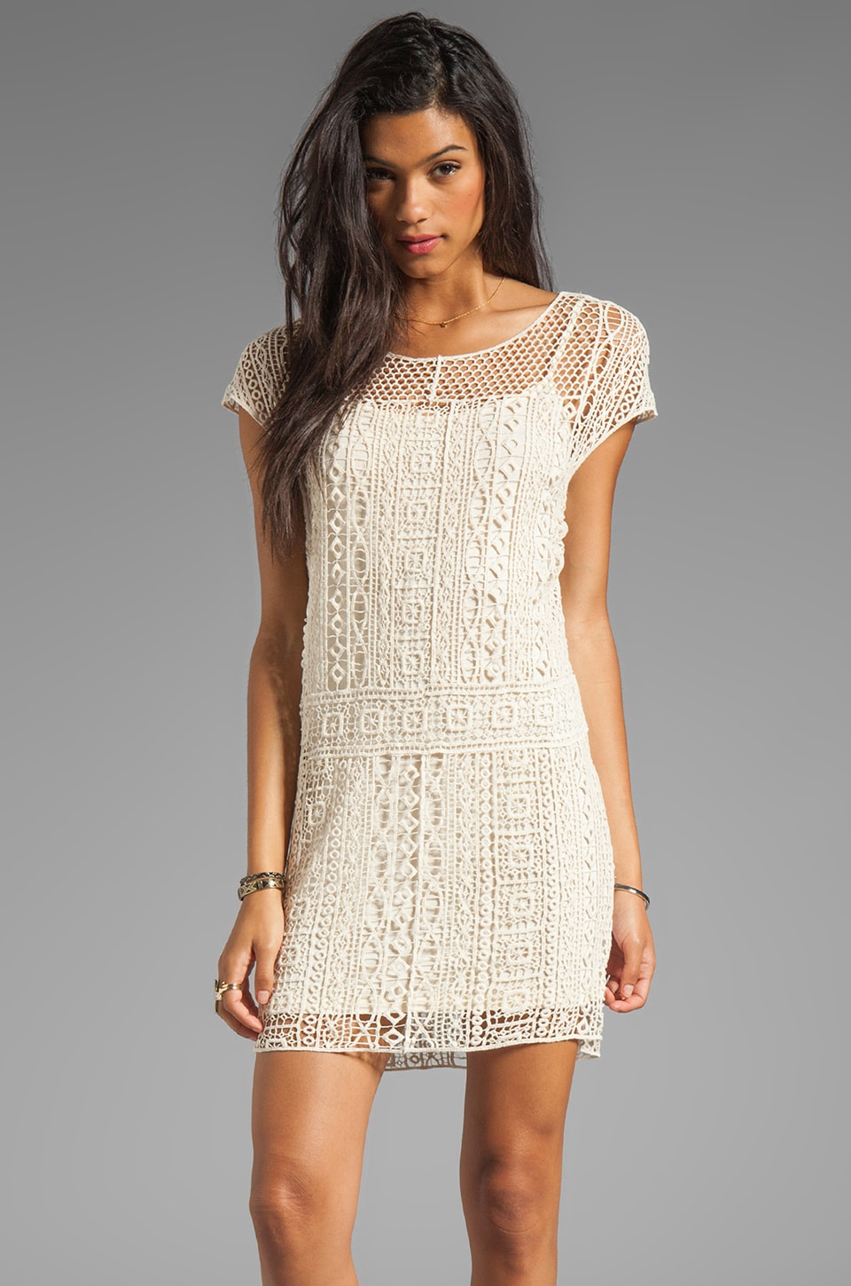 Ella Moss Hailee Crochet Dress in Natural