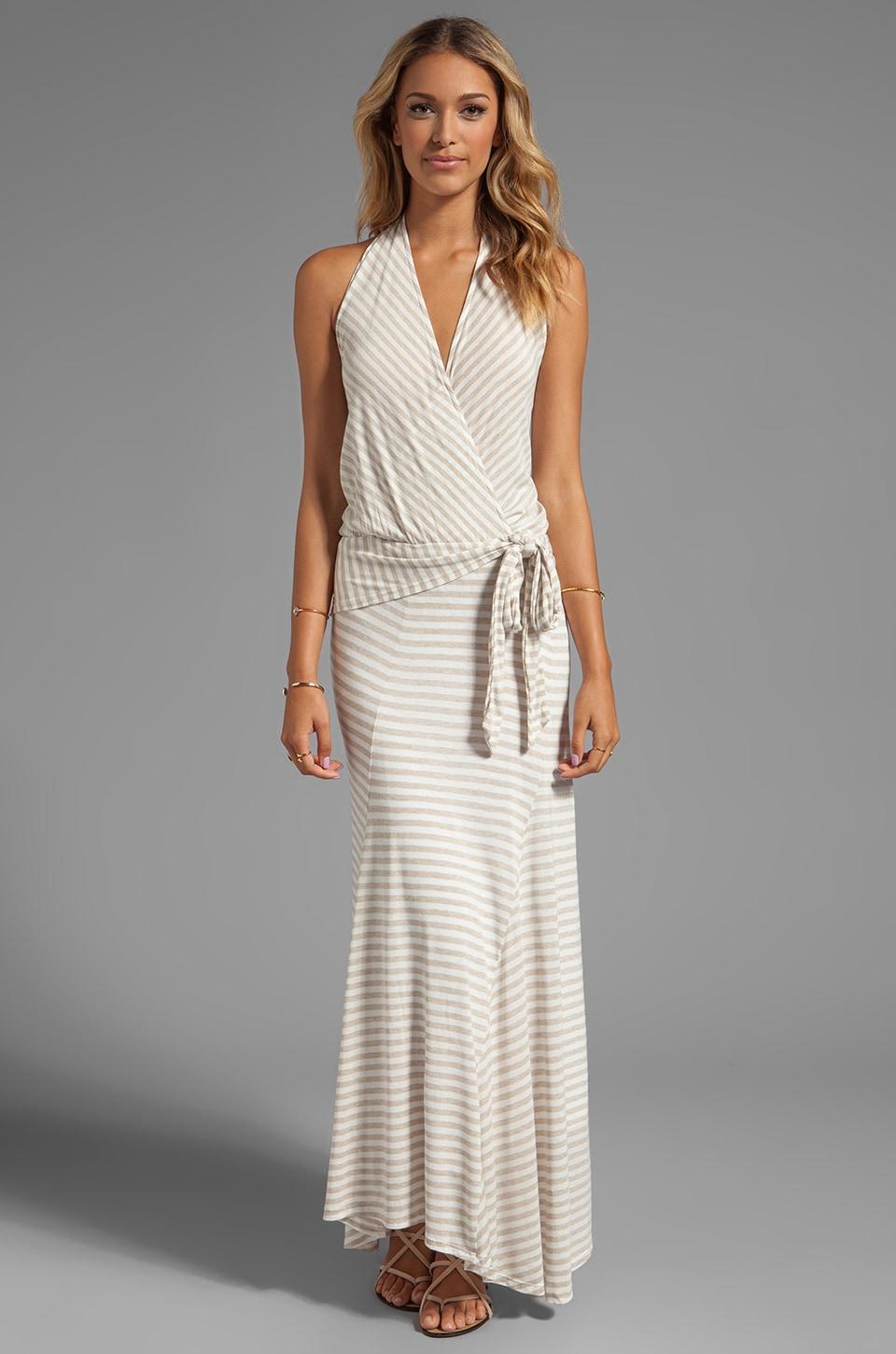 Ella Moss Gabi Stripe Maxi Dress in Linen