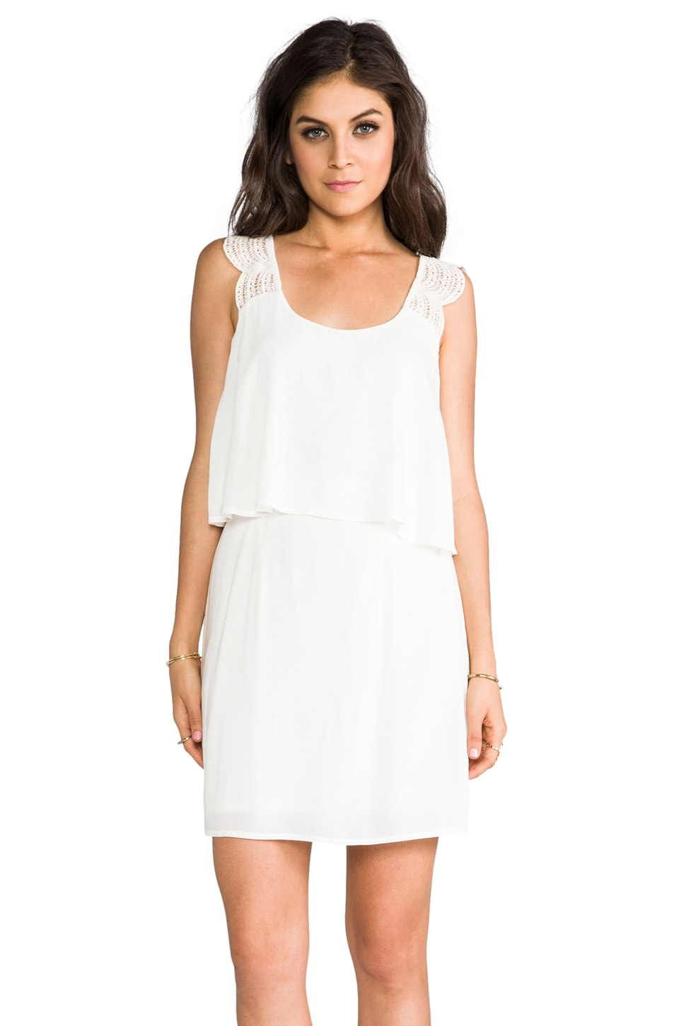 Ella Moss Lillian Lace Tank Dress in Natural