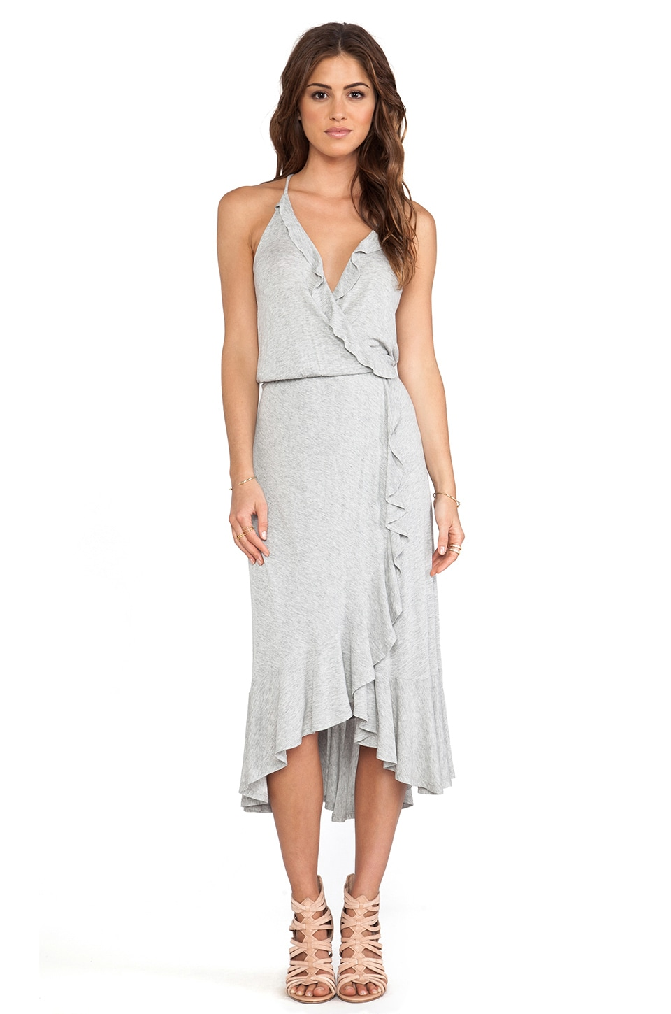 Ella Moss Icon Asymmetric Hem Dress in Grey