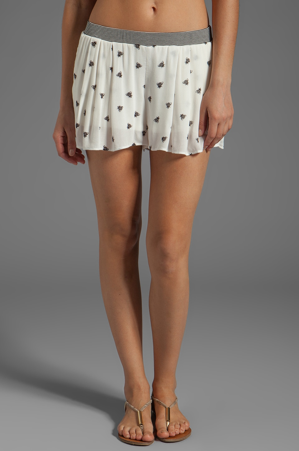 Ella Moss Honey Bee Shorts in Linen