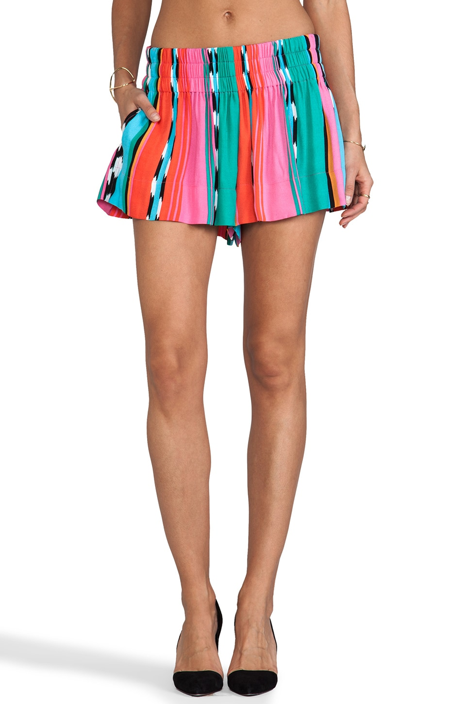 Ella Moss Surfer Stripe Shorts in Sunset