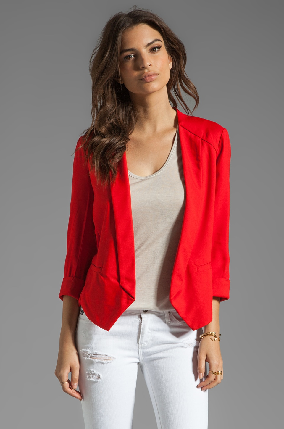 Ella Moss Aiselin Blazer in Poppy