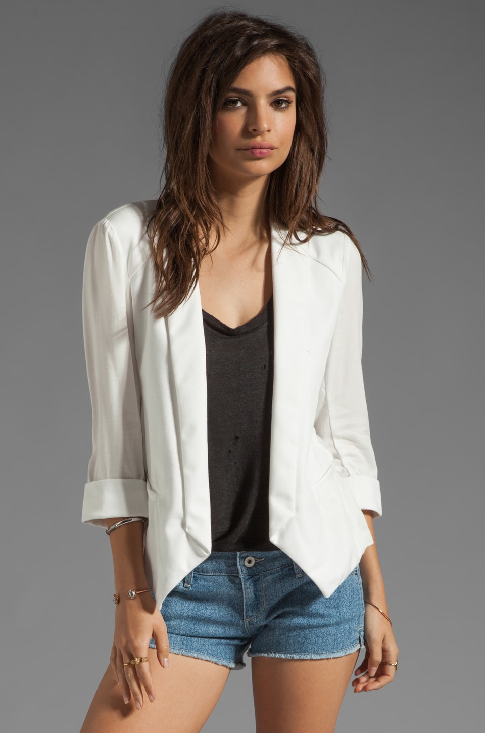 Ella Moss Aiselin Blazer in White