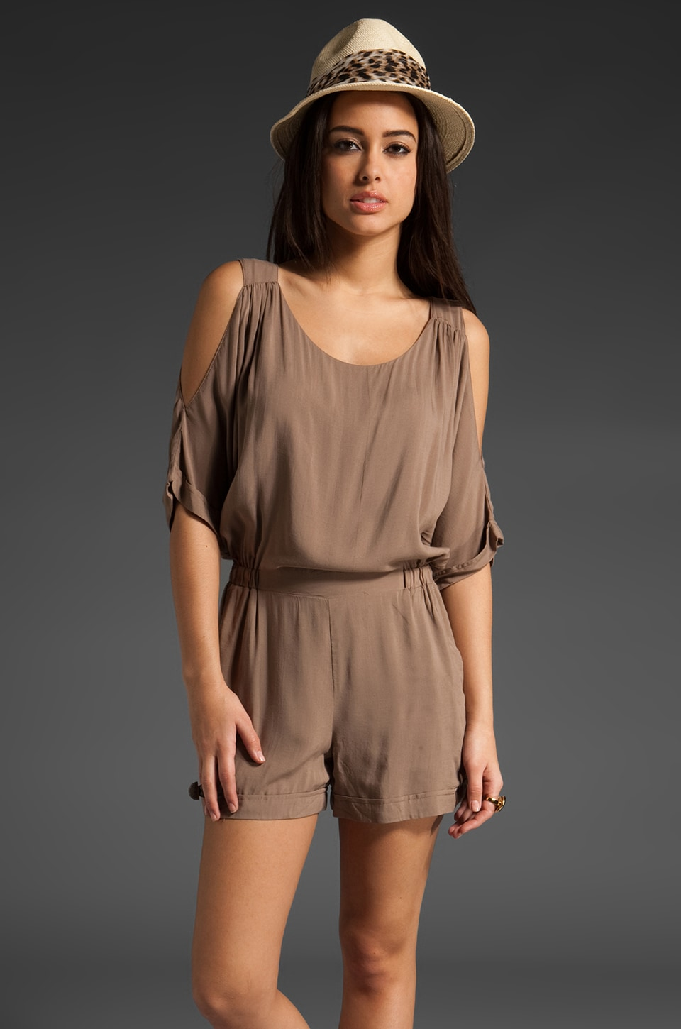 Ella Moss Dawn Cold Shoulder Romper in Chino