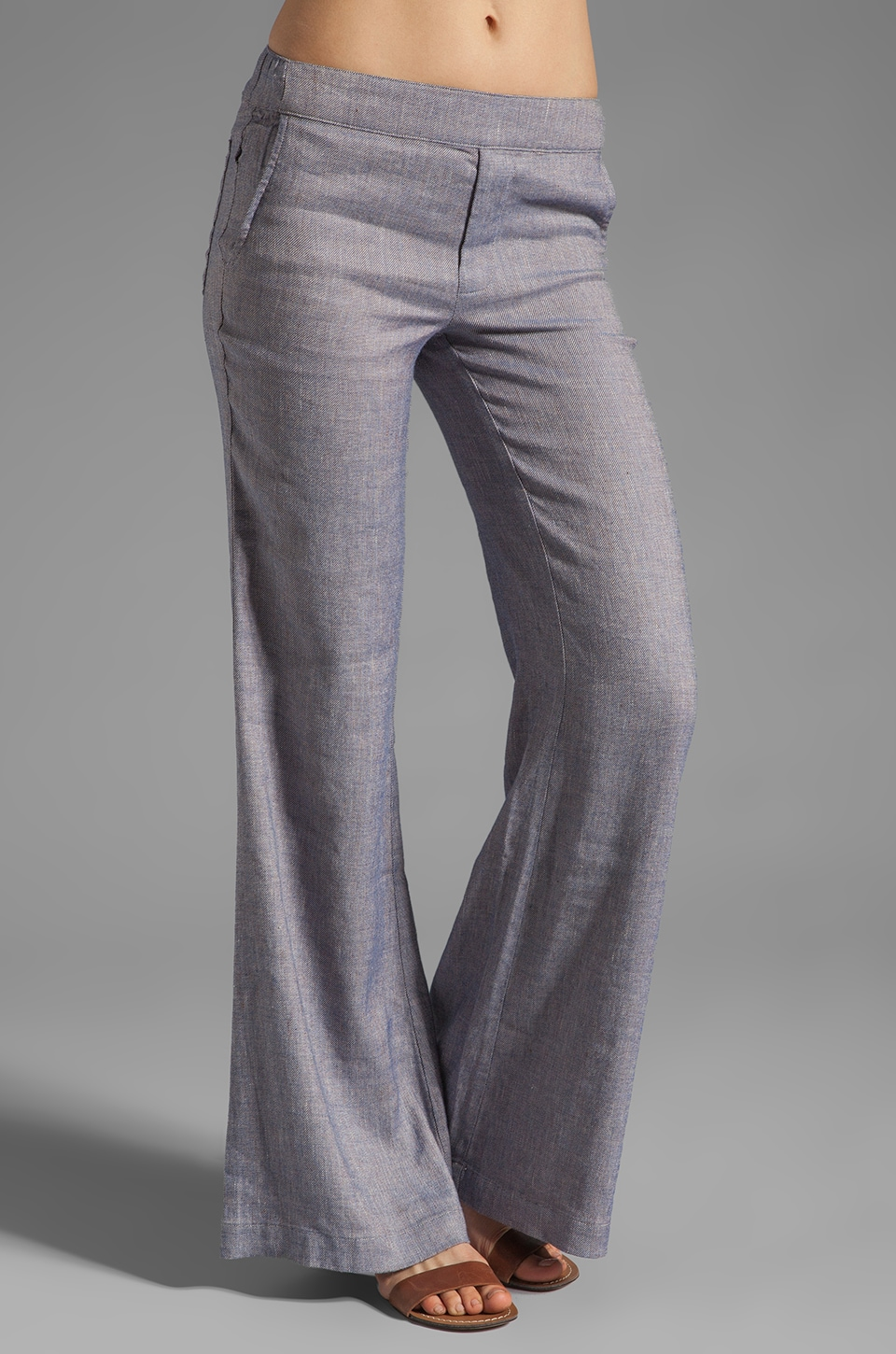 Ella Moss Coquette Pant in Chambray