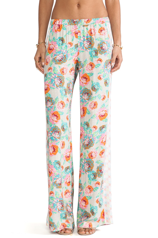 Ella Moss Delilah Floral Pants in Natural