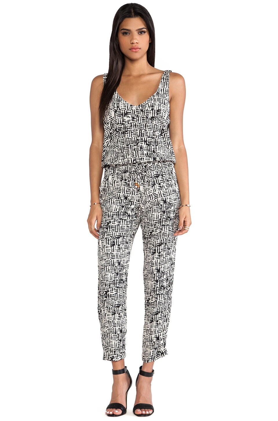 Ella Moss Kona Jumpsuit in Stone Multi