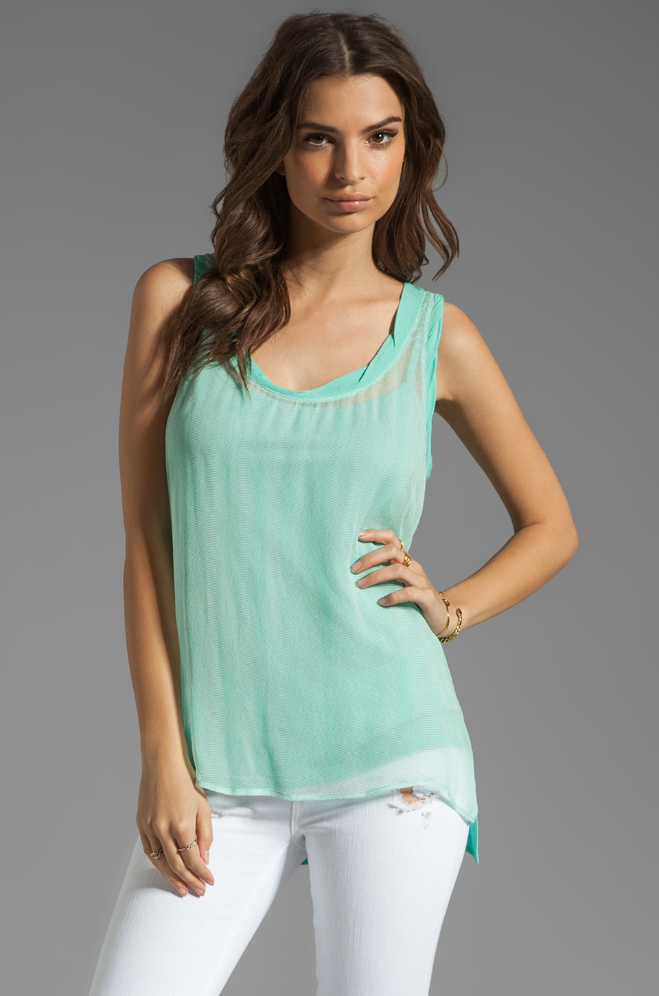 Ella Moss Cisco Tank in Mint