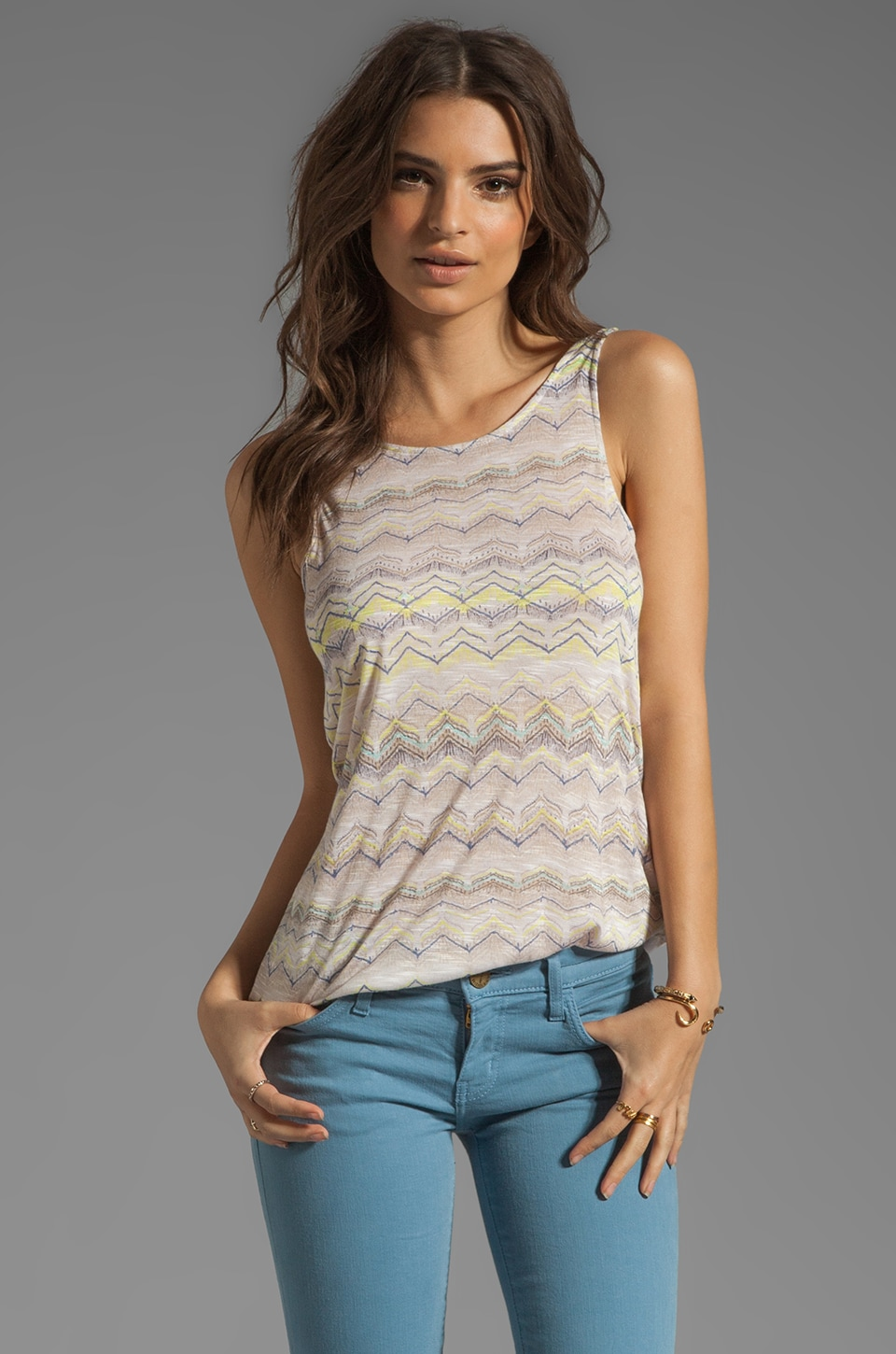 Ella Moss Feather Tail Tank in Linen