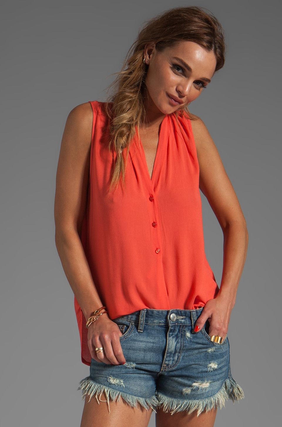 Ella Moss Stella Top in Coral