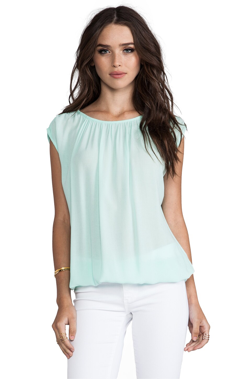 Ella Moss Sleeveless Top in Mint