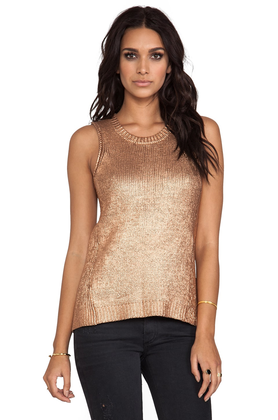 Ella Moss Beatrix Tank in Copper