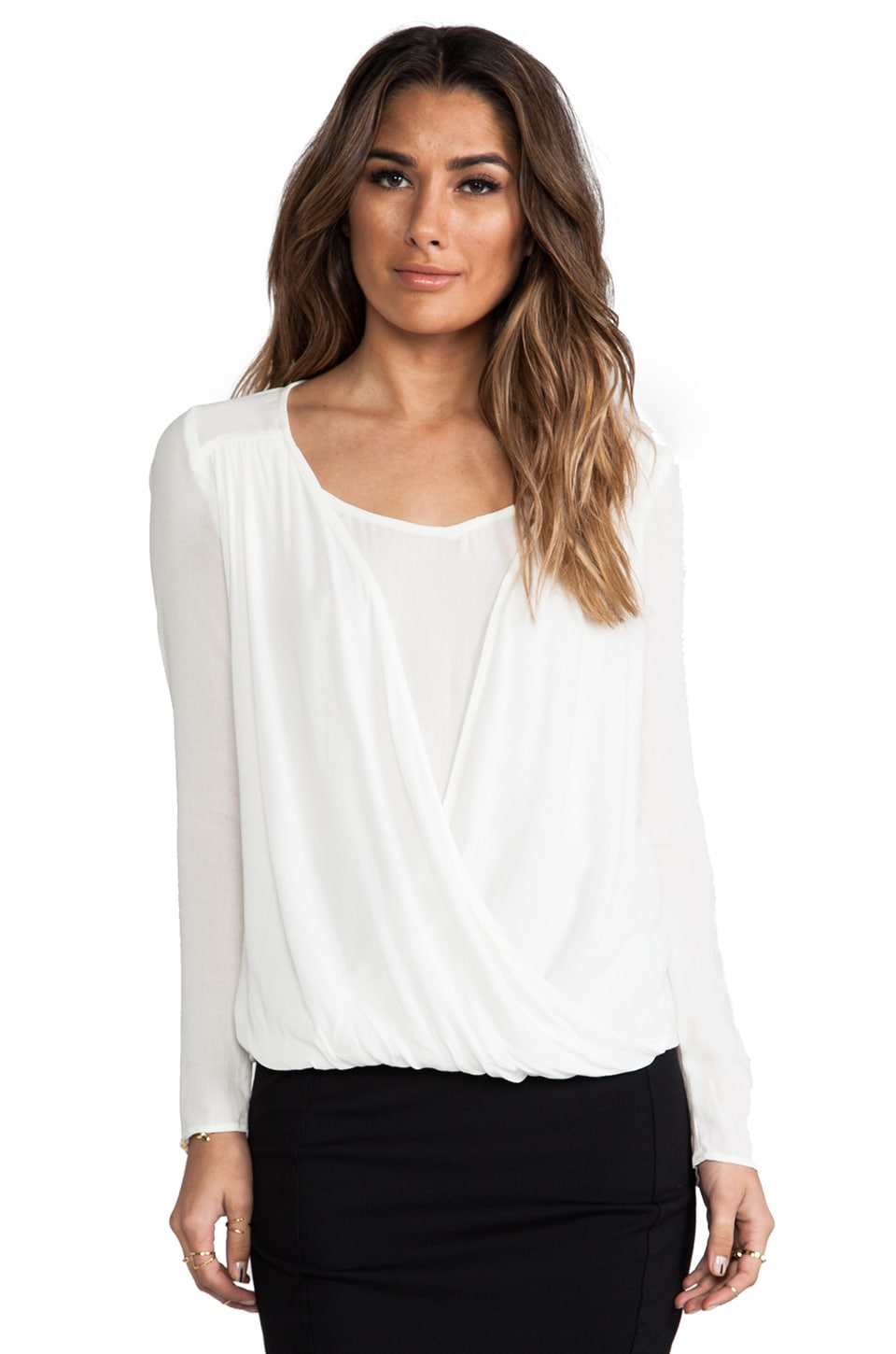 Ella Moss Stella Long Sleeve Top in Natural